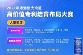 2021年粤港澳大湾区高价值专利培育布局大赛