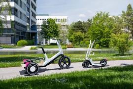 宝马展示城市电动滑板和货运三轮自行车概念