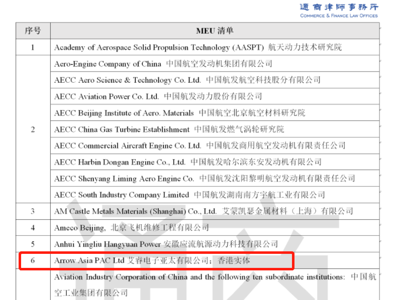 """《美国新增89家企业""""实体清单""""名单曝光?元器件代理商艾睿亚太在列》"""