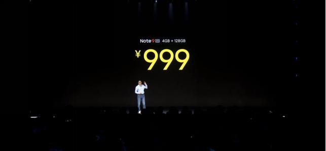 《4G版Note9 售价999元起!Redmi Watch 首卖特惠269》